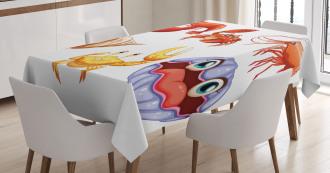 Crab Hermit Crab Lobster Tablecloth