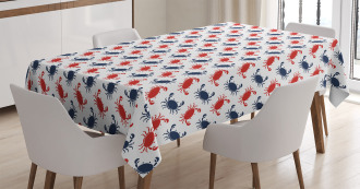 Sea Animals Theme Crabs Tablecloth
