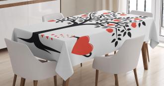 Romantic Love Tree Tablecloth