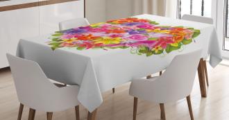 Flower Rose Leaf Tablecloth