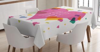 Quote Love Romance Tablecloth