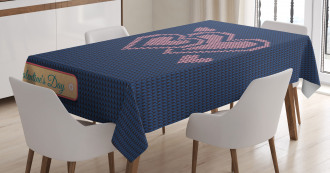 Digital Knit Hearts Tablecloth