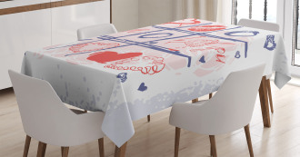 Xoxo Game with Lips Tablecloth