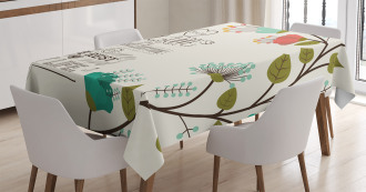 Flower with Leaf Tablecloth