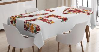 Garden Fowers Tablecloth