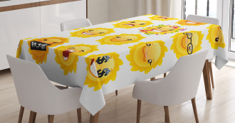 Smile Surprise Angry Mood Tablecloth