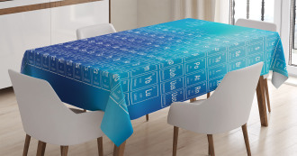 Chemistry Element Table Tablecloth