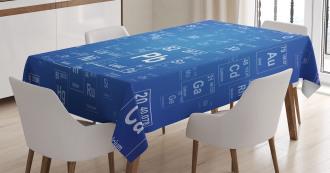 Tv Show Theme Chemistry Tablecloth