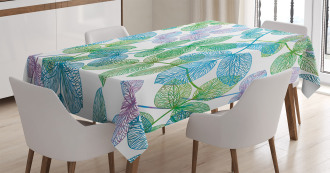 Flowers Leaves Ivy Ombre Tablecloth