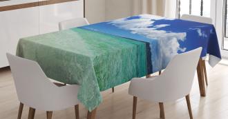 Island Sealife Wavy Sunny Tablecloth