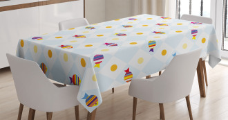 Fish Cartoon with Spots Tablecloth