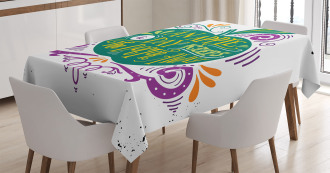 Eat Healthy Quote Tablecloth