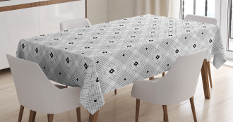 Modern Squares Tablecloth