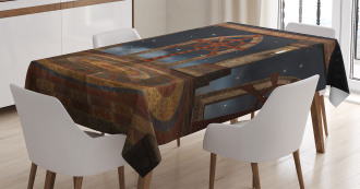 Fantasy Temple in Sky Tablecloth