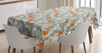 Fox in the Winter Forest Tablecloth