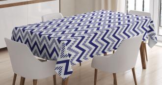 Zig Zag Striped Pattern Tablecloth