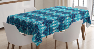 Patchwork Style Oriental Tablecloth
