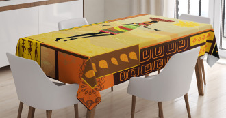 Tribal Ethnic Folkloric Tablecloth