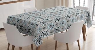 Floral Leaf Petals Tablecloth