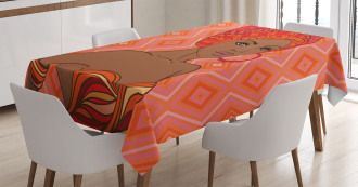 Ethnic African Zulu Girls Tablecloth