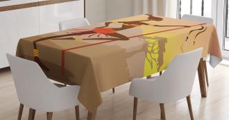 Savannah Amazon Girl Retro Tablecloth