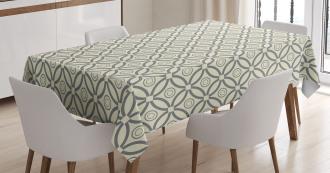 Circular Lines Design Tablecloth