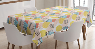 Unusual Trippy Lines Tablecloth