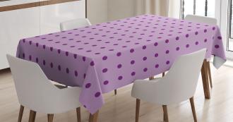 Fashion Polka Dots Tablecloth