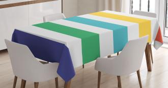 Rainbow Kids Pattern Tablecloth