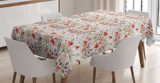 Spring Watercolor Style Tablecloth