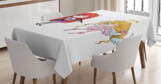 Japanese Fairytale Art Tablecloth