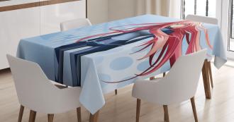 Digital Futuristic Style Tablecloth