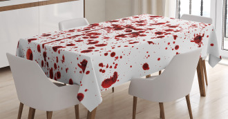 Splashes of Blood Scary Tablecloth