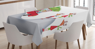Reindeer Family Noel Tablecloth