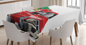 Red Farm Truck Tablecloth
