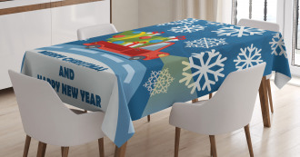 Happy New Year Truck Tablecloth