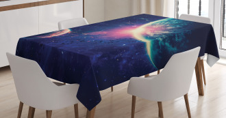 Outer Space Mars Planets Tablecloth