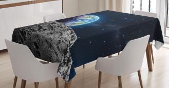 Moon Surface Luna Design Tablecloth