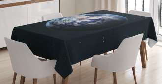 Planet Outer Space Scene Tablecloth