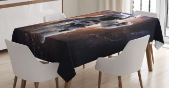 Astronaut in Outer Space Tablecloth