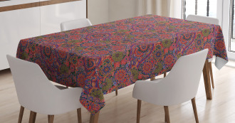 Asian Leaves Eastern Tablecloth