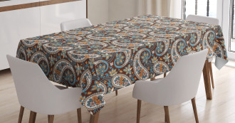 Vintage Oriental Ethnic Tablecloth