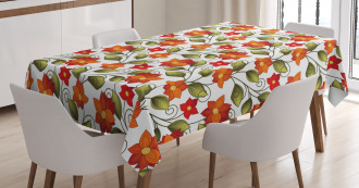 Boho Herbs Lily Nature Tablecloth