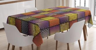 Digital Mix Motif Shapes Tablecloth