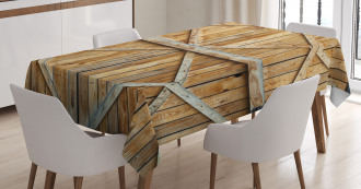 Wooden Timber Door Plank Tablecloth