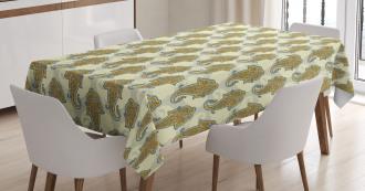 Ethnic Boho Culture Leaf Tablecloth