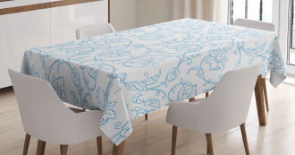 Bohemian Vintage Orchids Tablecloth