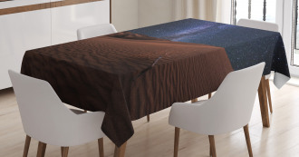 Desert Lunar Life on Mars Tablecloth