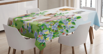 Cute Happy Kittens TableCloth