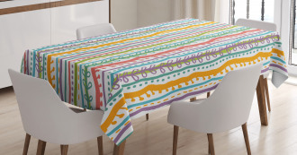 Vertical Swirl Lines Tablecloth